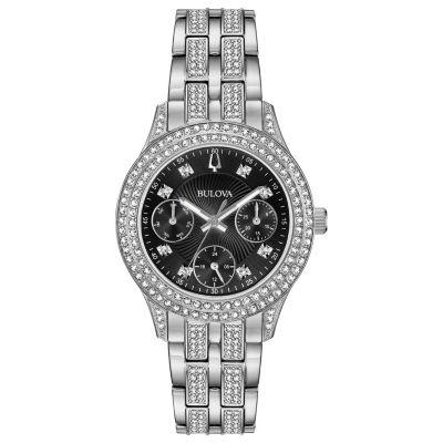 Bulova Womens Silver Tone Bracelet Watch-96n110