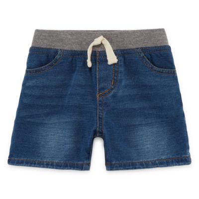 Okie Dokie Denim Pull-On Shorts - Baby Boy NB-24M