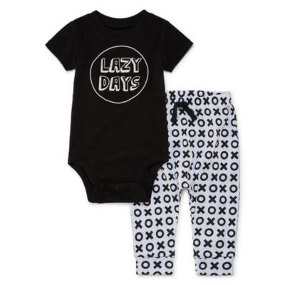 "Okie Dokie ""Lazy Days"" 2-pc. Bodysuit Set-Baby Boys NB-24M"