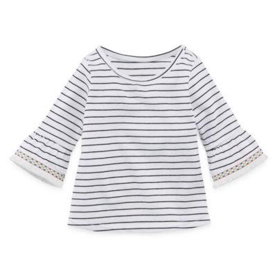 Okie Dokie Bell Sleeve Short Sleeve Babydoll Top - Baby Girls NB-24M
