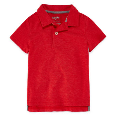 Okie Dokie Short Sleeve Slubbed Polo Shirt - Toddler Boys