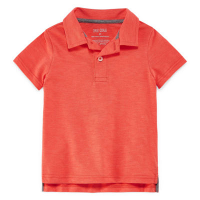 Okie Dokie Short Sleeve Slubbed Polo Shirt - Toddler Boys