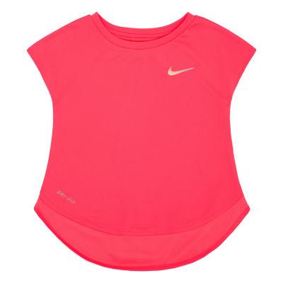Nike Girls Crew Neck Short Sleeve Dri-Fit T-Shirt-Preschool