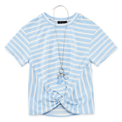 by&by Short Sleeve Scoop Neck T-Shirt Girls