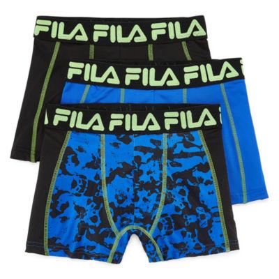Fila Fila Boy'S Underwear 3-Pair Hanging 3 Pair Boxer Briefs Boys
