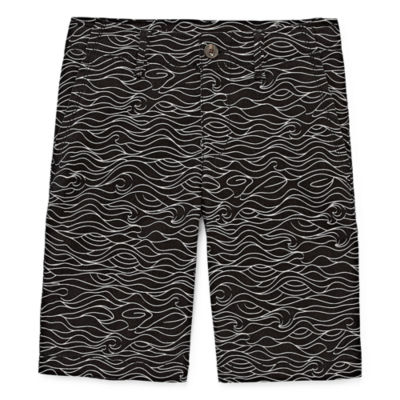 Arizona Flex Printed Chino Shorts Boys 4-20