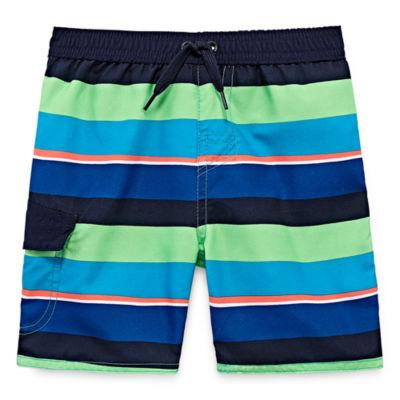Okie Dokie Stripe Swim Trunks - Toddler Boys