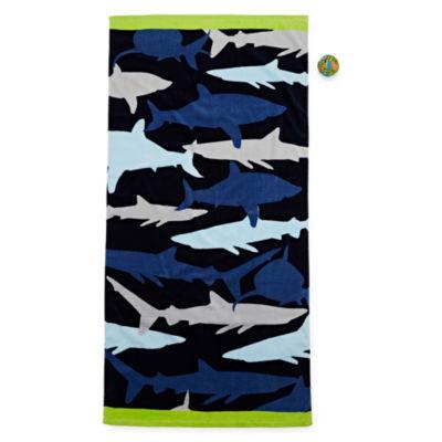 Shark Beach Towel With Ball - Boys