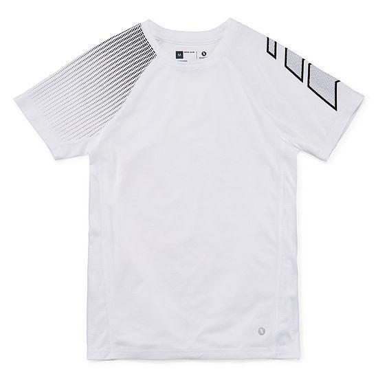 Xersion Trainer Top Short Sleeve Crew Neck T-Shirt Boys