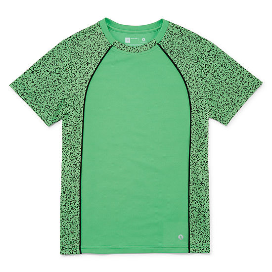 Xersion Short Sleeve Trainer Top Little & Big Boys Short Sleeve T-Shirt