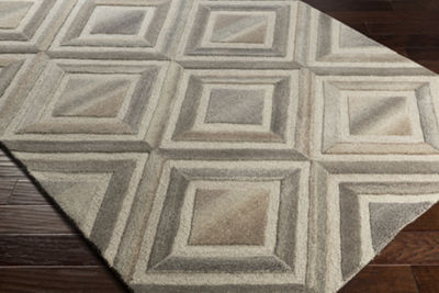 Dutoit Neutral Geometric Area Rug