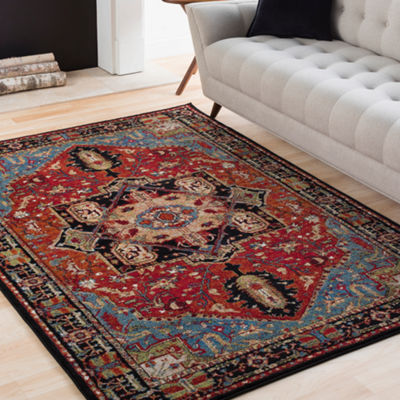 Ivar Red Medallion Area Rug