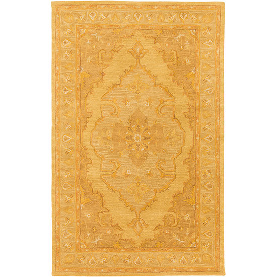 Jaidyn Yellow Medallion Area Rug