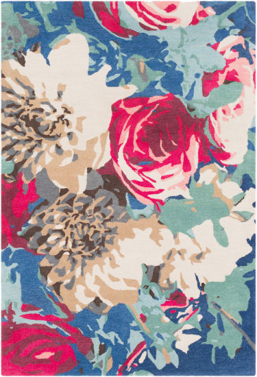 Halcyone Pink Floral Area Rug