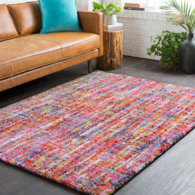 Elroy Pink-Gray Area Rug