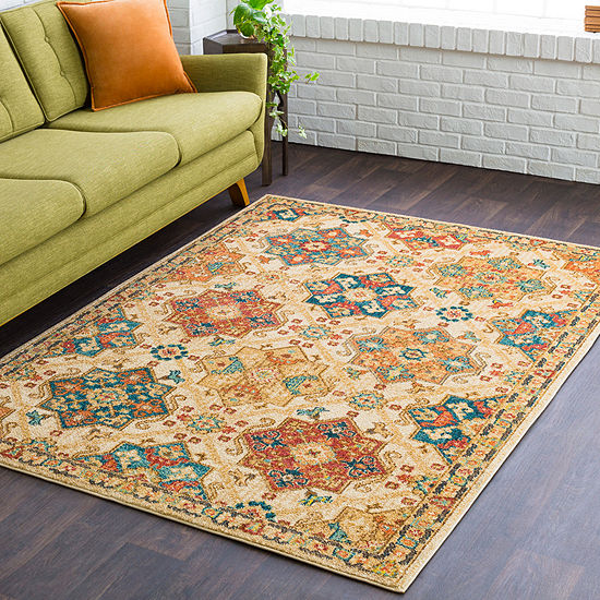 Haniyya Cream Medallion Area Rug