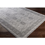 Hayles Gray Damask Area Rug