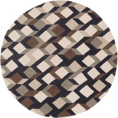 Heppner Geometric Round Area Rug