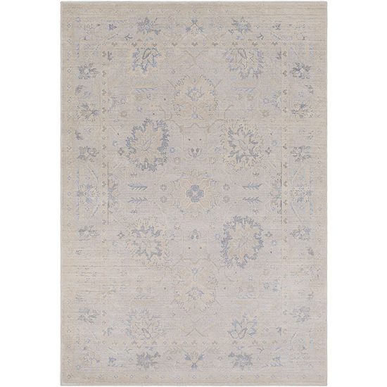 Idabel Grau Damask Area Rug