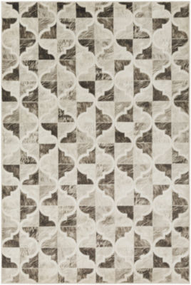 Indrajit Brown-Black Geometric Area Rug