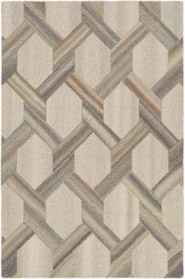 Kallistrate Yellow Geometric Area Rug