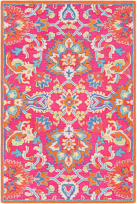 Euterpe Pink Floral Area Rug