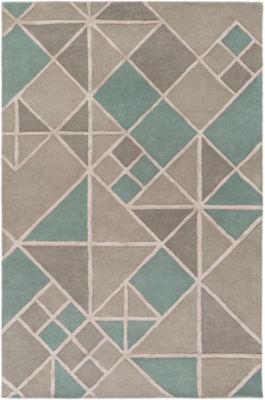 Isbrand Blue-Gray Geometric Area Rug