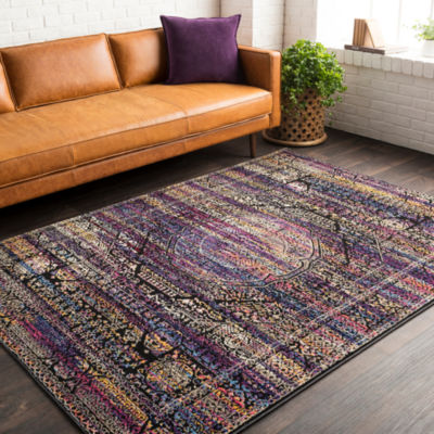 Gera Blue Meallion Area Rug