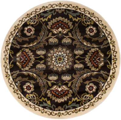 Lillianna Damask Round Area Rug