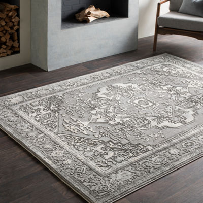 Lionel Gray Medallion Area Rug