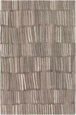 Loupe Gray Area Rug