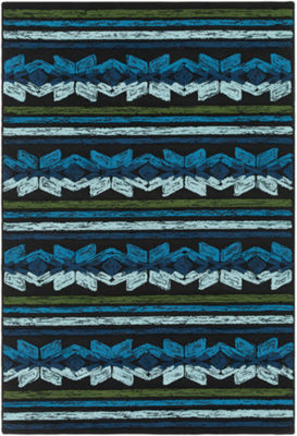 Karine Blue Stripe Area Rug