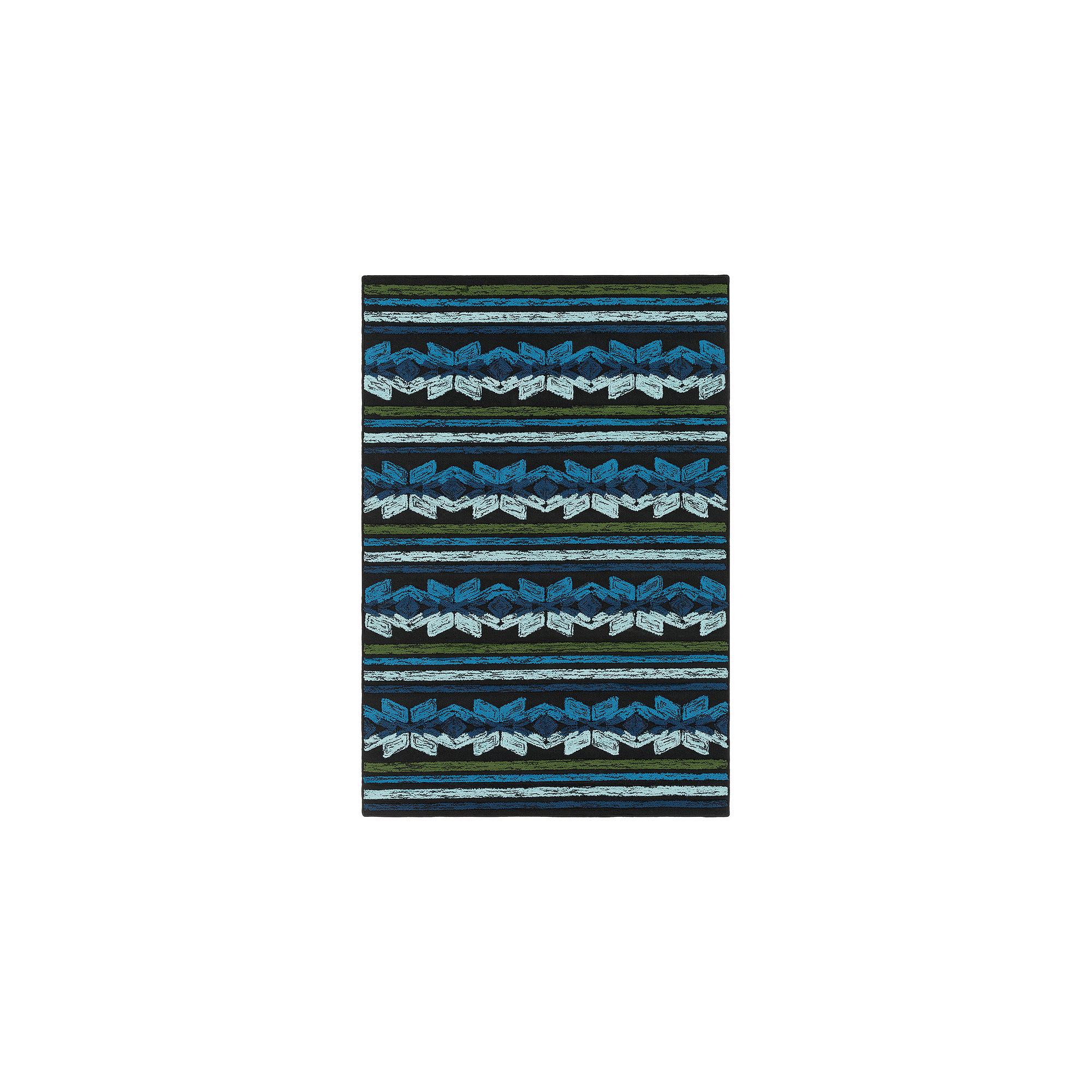 Karine Blue Stripe Area Rug