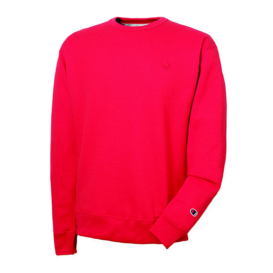 Champion® Mens Long-Sleeve Powerblend Fleece Crew Sweatshirt