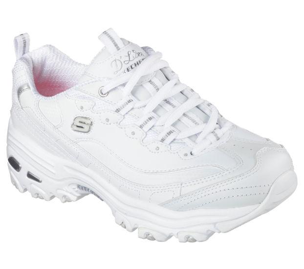 Image result for skechers d lites fresh start white silver
