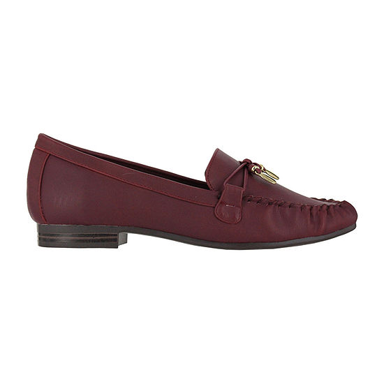 Mia Amore Womens Mindy Loafers Strap Round Toe