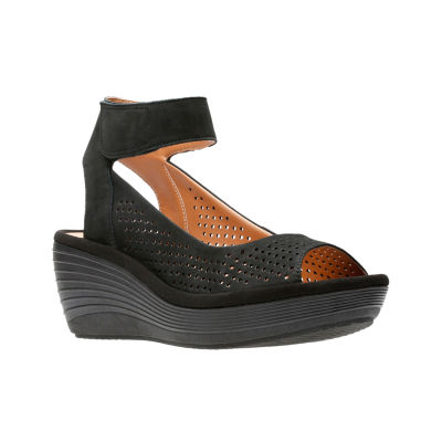 Clarks Womens Reedly Salene Wedge Sandals