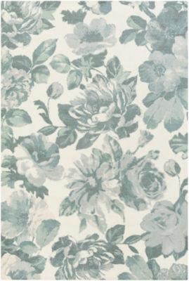 Matthieu Blue Floral Area Rug