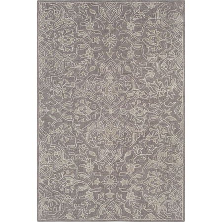 Kierra Damask Area Rug, One Size , Gray at RugsBySize.com