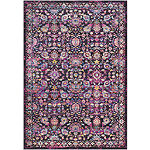 Miron Purple Damask Area Rug