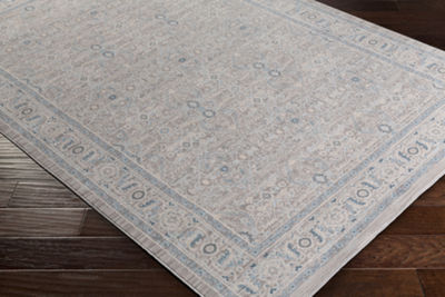 Sacristan Brown Damask Area Rug