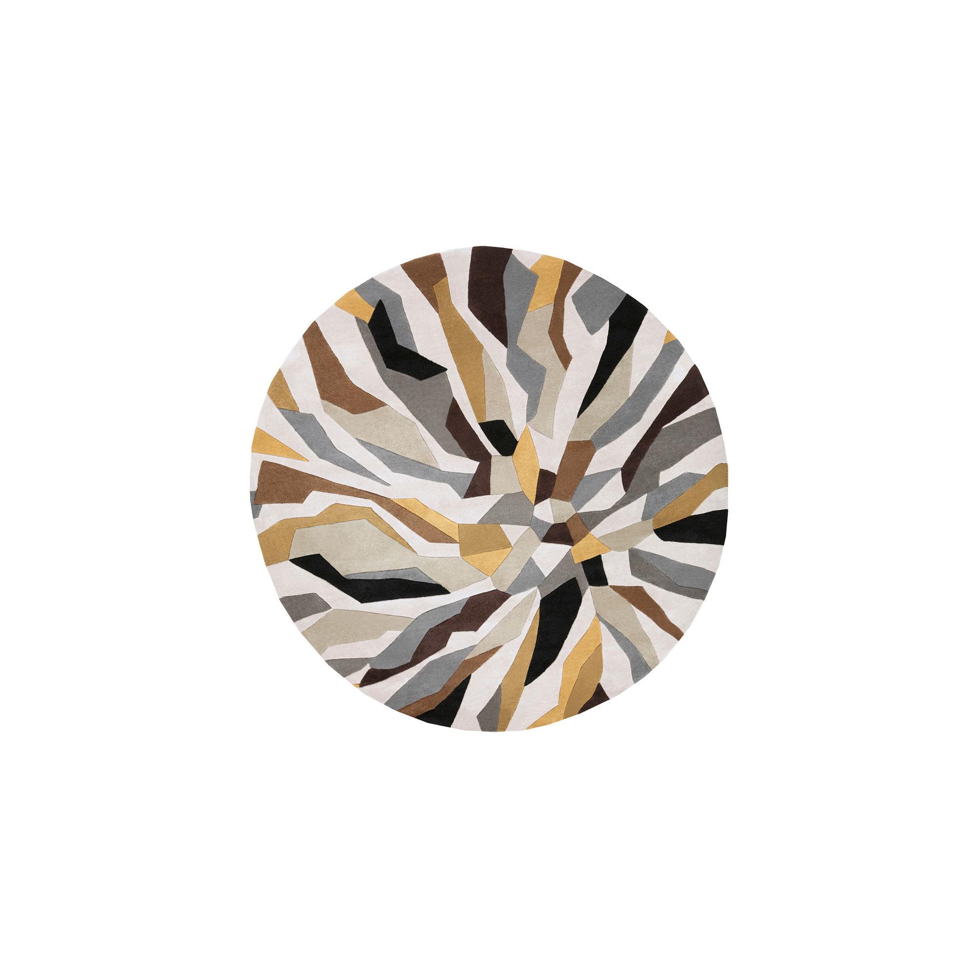 Nabari Geometric Round Area Rug