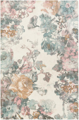 Raymonde Multi-Colored Floral Area Rug