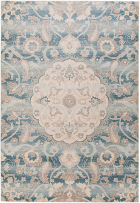 Salz Blue Medallion Area Rug