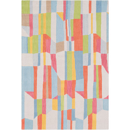Saqui Geometric Area Rug, One Size , Blue at RugsBySize.com