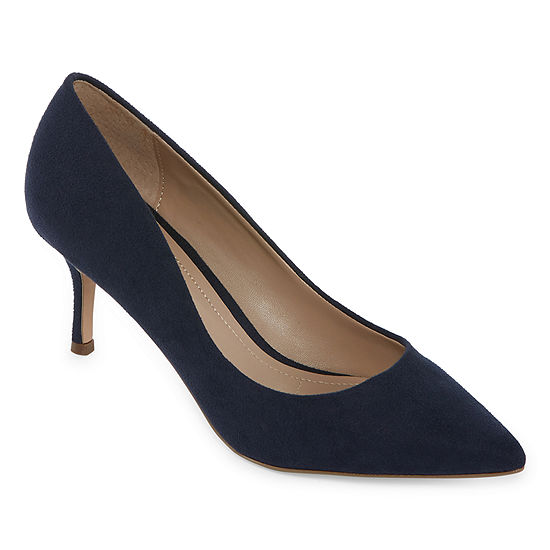 Style Charles Womens Amelia Pumps Pointed Toe Stiletto Heel