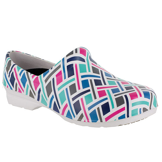 Easy Works By Easy Street Womens Kris Round Toe Slip-On Shoe