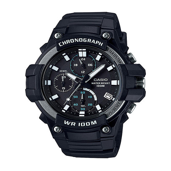 Casio Mens Black Strap Watch-Mcw110h-1av