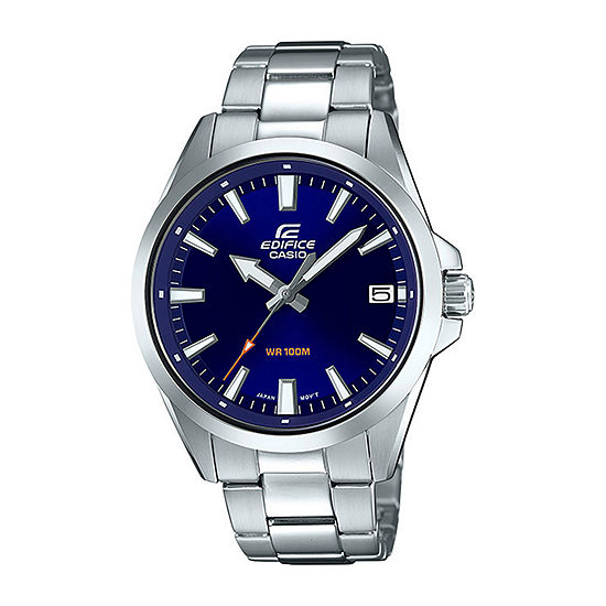 Casio Edifice Mens Silver Tone Stainless Steel Bracelet Watch-Efv100d-2av