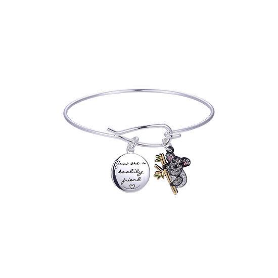 Sparkle Allure Crystal Koala Bracelet Pure Silver Over Brass Bangle Bracelet